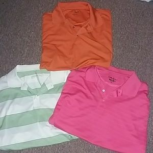 Lot of 3 mens polo golf shirts
